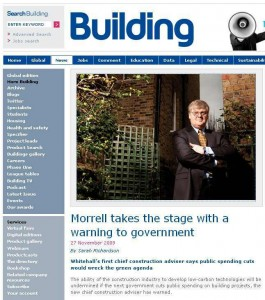 Morrell in building